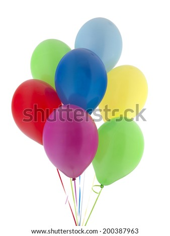 A bunch Helium Balloons