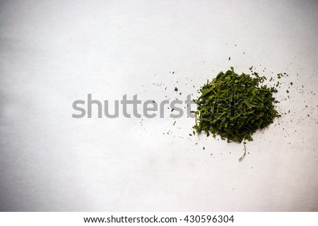 a bunch of dry medicinal cannabis marijuana intended for smoking for medical purposes - stock photo