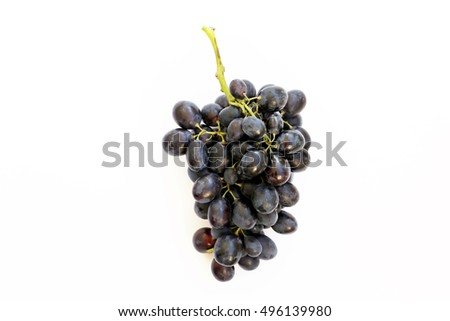a bunch of grapes on a white background