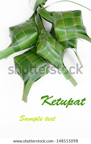 A Bunch of Ketupats, a traditional food in Malaysia for celebration - stock photo