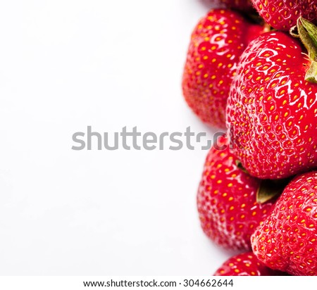 a bunch of strawberries. fruit - stock photo