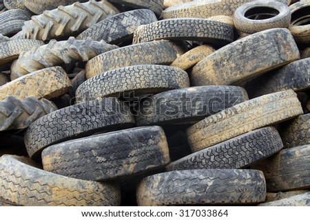 A bunch of tyres-background