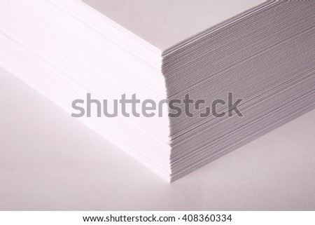 a bundle of white paper for the Office on a white background