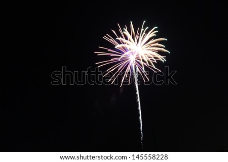 A burst of fireworks - stock photo