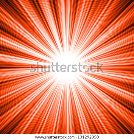 A Burst of Light - stock photo