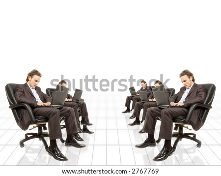 a business conceptual image depicting overtime work - stock photo