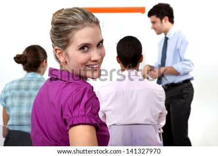 A business meeting. - stock photo
