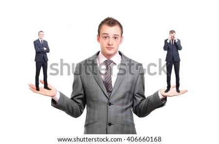 A businessman unsure of a decision - stock photo
