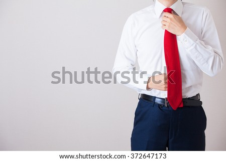 A businessman wearing suits