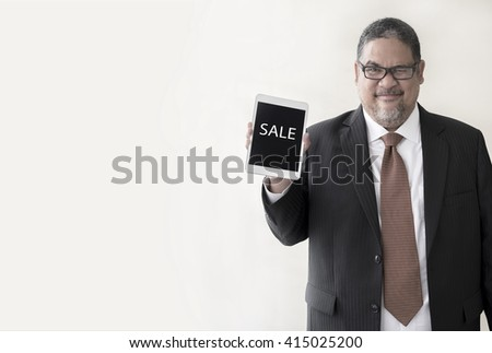 a businessman with a notepad