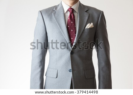 A  businessman with gesture  - stock photo