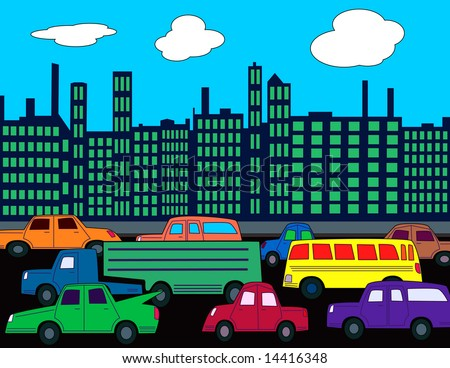 Busy City Clipart a Busy City...450