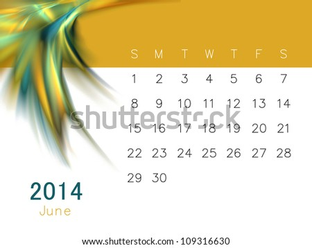 a calendar for 2014 - stock photo