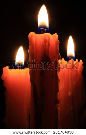 A candle flame is formed because wax vaporizes on burning