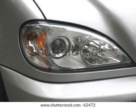 a car light, technological eye - stock photo