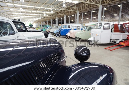 A car museum in Thailand - stock photo