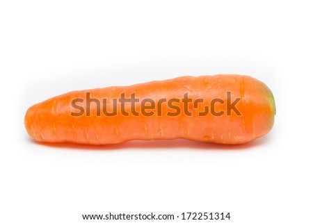 A carrot isolated on white background - stock photo