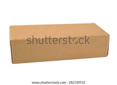 A Carton with white background - stock photo