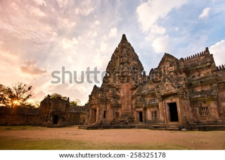 A castle built on three thousand years, Khao Phanom Rung castle rock.In Thailand. - stock photo