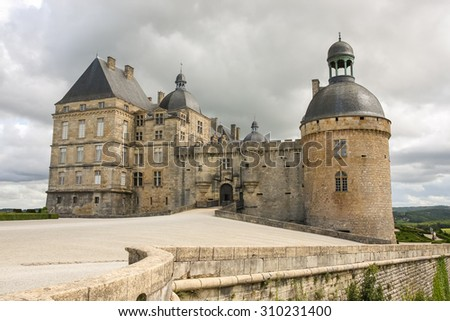 A castle of Hautefort, France