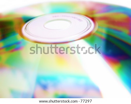 a cd - stock photo