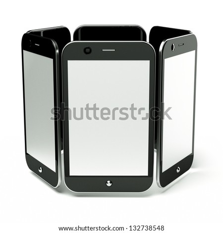 a cellphones on white, 3d render