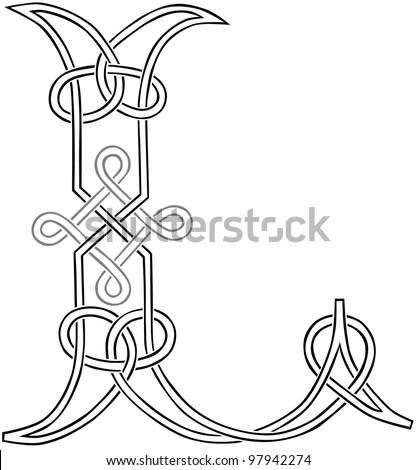 Celtic Knot Letter V