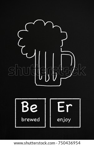 Periodic table of beer styles stock images royalty free images a chalkboard beer advertisement written with periodic table element symbols urtaz Gallery