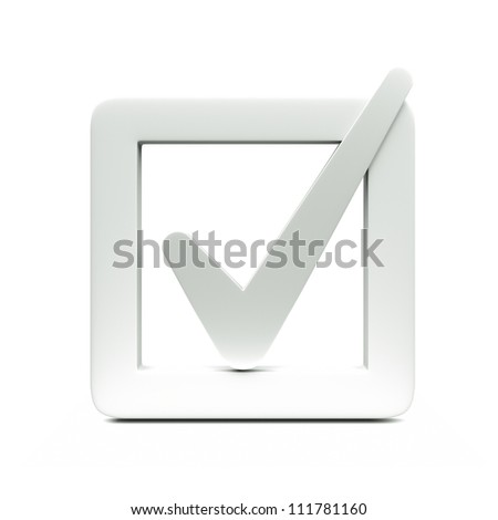 a checkbox icon isolated on white - stock photo