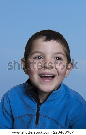 A Cheerful child smiling