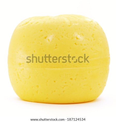 A cheese isolated on a white background  - stock photo