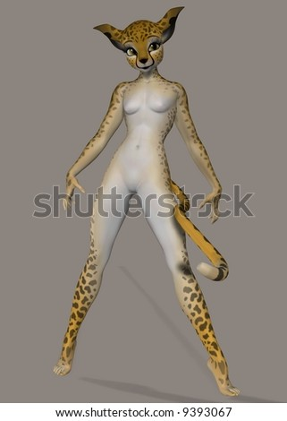 A cheetah girl