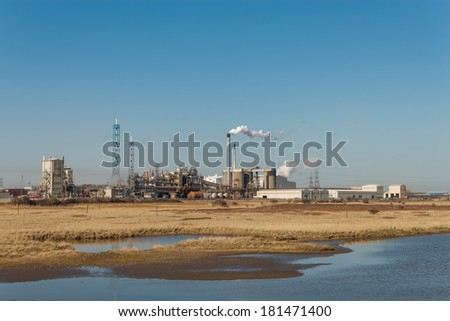 A Chemical Factory Exterior - stock photo