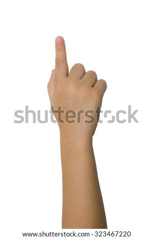 A child's hand pointing - stock photo