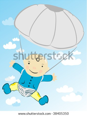 A child with a parachute