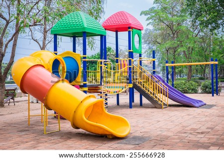 A children's playground - stock photo