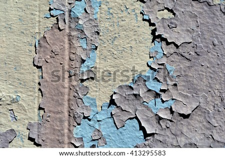 a chipped and peeling paint wall texture
