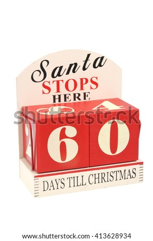 A christmas countdown ornament isolated on a white background 60 Days to Christmas
