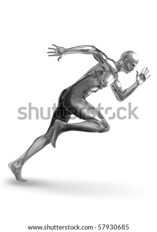 A Chrome man off to a fast start - stock photo