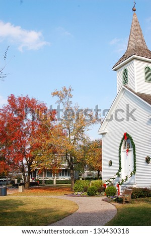 A church in sam Houston park, downtown of Houston, texas - stock photo