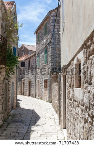 a city view of the croatian city of stari grad