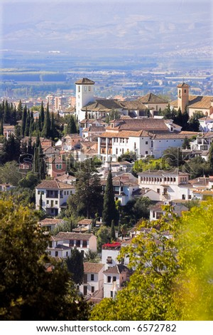 A cityscape in the South of Spain (the city of Granada)