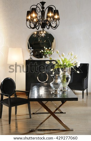 a classic decoration photo on a photo studio - stock photo