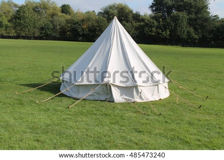 A Classic White Canvas Bell Shaped C&ing Tent. & Bell Tent Stock Images Royalty-Free Images u0026 Vectors | Shutterstock