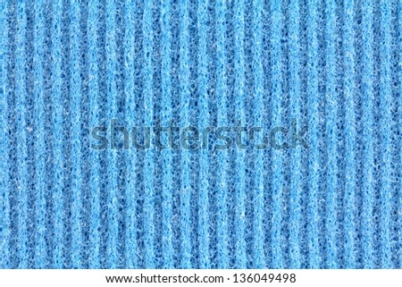 A clean texture of General Purpose Sponge Cloth in Blue Color - stock photo