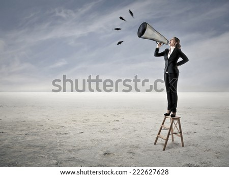 A clear message  - stock photo