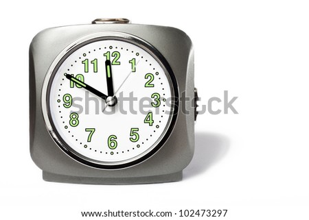 a clock isolated on white