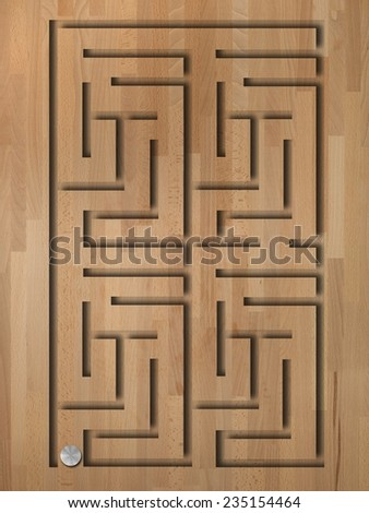 A close up abstract image of a maze - stock photo