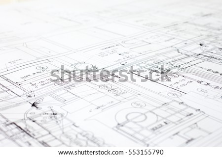 Blueprint stock images royalty free images vectors shutterstock a close up of an architectural blue print with black and white details marked malvernweather Choice Image