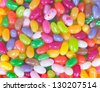 a close up of colored sweet beans - stock photo
